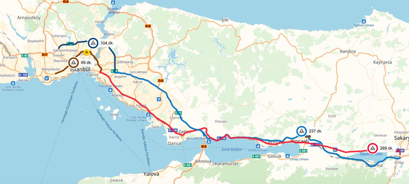 Yandex Navigasyon bayram trafiğinden kurtulmanın yollarını belirledi